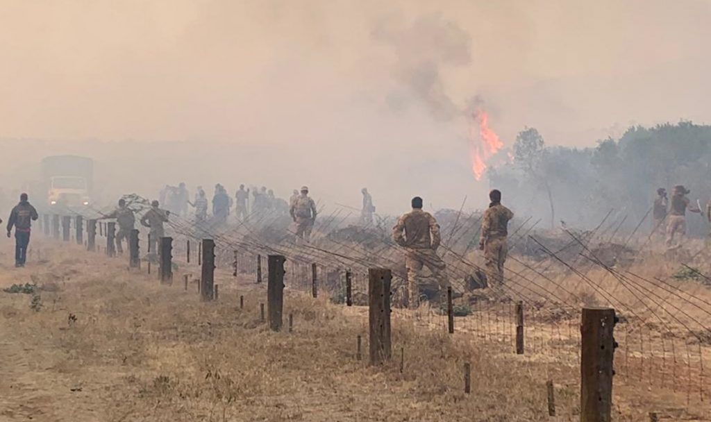 British troops sparked a major fire in Kenya on 23 March 2021 (Photo: MOD)