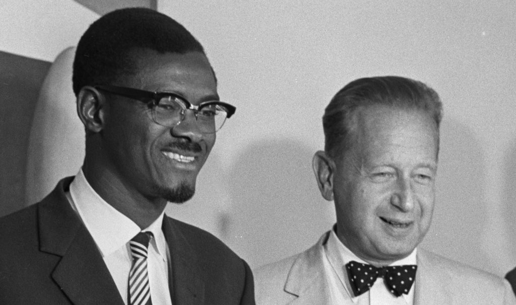 Congo's prime minister Patrice Lumumba with UN Secretary-General Dag Hammarskjöld in 1960. (Photo: Ben Martin / Getty)